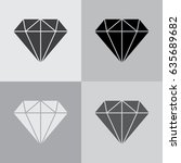 diamond icon vector. | Shutterstock .eps vector #635689682