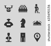 gray icons set. set of 9 gray... | Shutterstock .eps vector #635690156