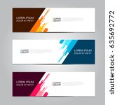Vector abstract geometric design banner web template. | Shutterstock vector #635692772