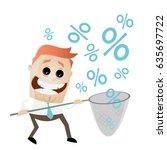 happy man catching discounts | Shutterstock .eps vector #635697722