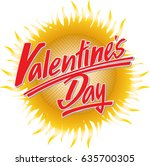 """""""valentines day"""" hand written...   Shutterstock .eps vector #635700305"""