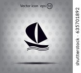 yacht vector icon | Shutterstock .eps vector #635701892