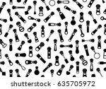seamless zipper pullers... | Shutterstock .eps vector #635705972