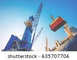 business logistics concept... | Shutterstock . vector #635707706