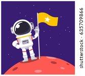 Vector Astronaut Standing On...