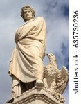 Small photo of Monument to Italian poet Dante Alighieri, the Divine Comedy writer, Florence, Tuscany, Italy