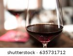 detail of red wine  glasses of... | Shutterstock . vector #635731712