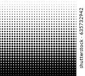 halftone dot pattern. vector... | Shutterstock .eps vector #635732942