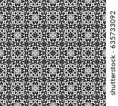 raster monochrome seamless... | Shutterstock . vector #635733092