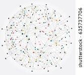 global network connection.... | Shutterstock .eps vector #635737706