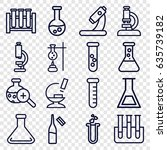 lab icons set. set of 16 lab... | Shutterstock .eps vector #635739182