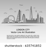 line art vector illustration of ... | Shutterstock .eps vector #635741852