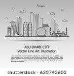 line art vector illustration of ... | Shutterstock .eps vector #635742602