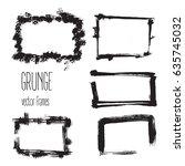 vector grunge rectangle frames. ...   Shutterstock .eps vector #635745032