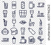 beverage icons set. set of 25...   Shutterstock .eps vector #635746262