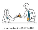 businessman  office worker ... | Shutterstock .eps vector #635754185