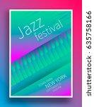 jazz music festival poster... | Shutterstock .eps vector #635758166