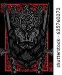king card gambling design... | Shutterstock .eps vector #635760272
