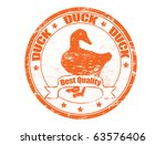 Grunge Rubber Stamp With A Duck ...
