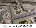 stamp collecting. philatelic.... | Shutterstock . vector #635765132