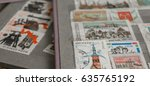 stamp collecting. philatelic.... | Shutterstock . vector #635765192