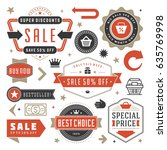 sale badges and tags design... | Shutterstock .eps vector #635769998