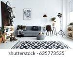 hipster style  white living... | Shutterstock . vector #635773535