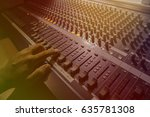 control buttons on the audio... | Shutterstock . vector #635781308