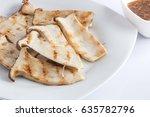 a sliced of pleurotus eryngii... | Shutterstock . vector #635782796