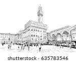 palazzo vecchio signoria in... | Shutterstock .eps vector #635783546