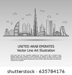line art vector illustration of ... | Shutterstock .eps vector #635784176