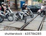 hanoi  vietnam   august 16 ... | Shutterstock . vector #635786285
