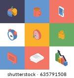 vector illustration. set of... | Shutterstock .eps vector #635791508