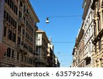 Small photo of Rome street called Cora di Rienzo street.