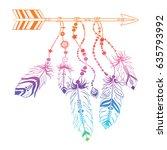 hand drawn illustration of... | Shutterstock .eps vector #635793992