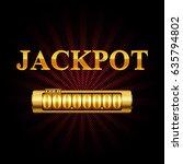 jackpot. eps10 vector... | Shutterstock .eps vector #635794802