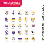 modern color flat design icons... | Shutterstock .eps vector #635801372