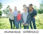 happy intergenerational family... | Shutterstock . vector #635801612