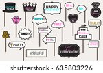 photo booth props weddings...   Shutterstock .eps vector #635803226