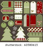 set of variable christmas tags  ...   Shutterstock .eps vector #63580615
