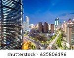 shanghai lujiazui finance  ... | Shutterstock . vector #635806196