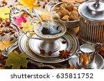coffee in the oriental style...   Shutterstock . vector #635811752