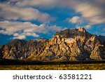 Red Rock Canyon - Rainbow Mountain - stock photo
