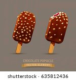 vector set with chocolate... | Shutterstock .eps vector #635812436