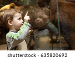 portrait of curiosity child in... | Shutterstock . vector #635820692