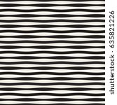 wavy stripes vector seamless... | Shutterstock .eps vector #635821226