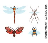 Colorful Insects Icons ...