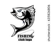 angry tuna fish logo. tuna... | Shutterstock .eps vector #635826806