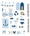 vector summer illustrations and ... | Shutterstock .eps vector #635829992