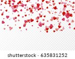 vector isolated heart pink... | Shutterstock .eps vector #635831252